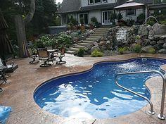 Inground Pool Prices | Viking Pools, Trilogy - Leisure Fiberglass inground swimming pool cost ...