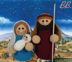 Galamigurumis The Easiest Amigurumi Nativity Scene Portal - Galamigurumis Christmas Crafts, Christmas Ornaments, Crochet Christmas, Christmas Ideas, Yarn Crafts, Crochet Flowers, Nativity, Winter Hats, Santa