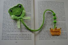 Häkelanleitung Lesezeichen Froschkönig