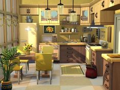 Pins: awesome tips on improving your kitchen ideas Sims 4 House Plans, Sims 4 House Building, Lotes The Sims 4, Sims 2, Sims 4 Family, Sims 4 Kitchen, Muebles Sims 4 Cc, Sims 4 House Design, Sims 4 Bedroom