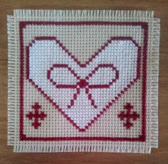 Cross stitch Christmas Folk Heart digital by CraftwithCartwright