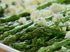 Get Roasted Asparagus with Feta Cheese Recipe from Food Network