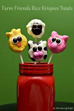 It's easy to make these fun Farm Friends Rice Krispies Treats! #KreateMyHappy #ad #RKTreatSweeps