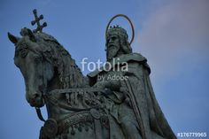 Equestrian statue of Stephen I of Hungary, Budapest - Buy this stock photo and explore similar images at Adobe Stock Equestrian Statue, Royalty Free Photos, Hungary, Budapest, Mount Rushmore, Lion Sculpture, Stock Photos, Marketing, Explore