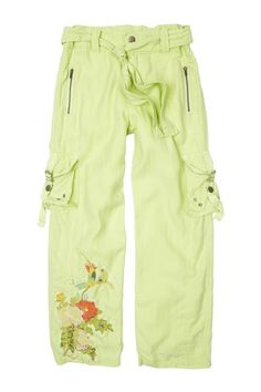 Silk Blend Embroidered Parrot Patch Baggy Pant by Da-Nang Kids on @HauteLook