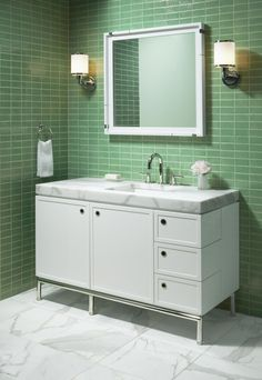 check out the extra chunky countertop this bathroom is brought to you by kallista its the vir stil collection by laura kirar
