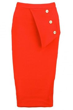 Boohoo Button Side Crepe Midi Skirt