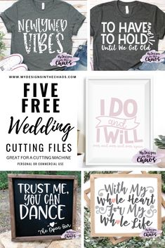 Free Wedding SVG Files - My Designs In the Chaos - Weddings are such a beautiful time where two people come together to commit themselves to a future - Diy Wedding Fans, Diy Wedding Program Fans, Free Wedding, Handmade Wedding, Wedding Signs, Wedding Ceremony, Wedding Ideas, Magical Wedding, Rustic Wedding