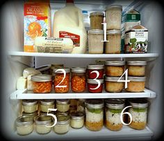Mason jar meals...this blog has some great ideas, and no marathon cooking days needed.  Use jars for individual meal storage, can be heated, eaten from, washed and reused.  Brillant!