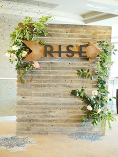 Aug 2018 - Portland wedding florist styles flowers for the Rise Weekend event. Church Lobby, Church Foyer, Church Events, Manado, Christian Conferences, Womens Ministry Events, Photo Booth Backdrop, Photo Backdrops, Backdrop Ideas