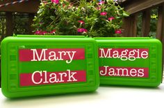 BACK TO SCHOOL - Personalized Pencil Box/ Art Supply holder by MonogramCollection on Etsy