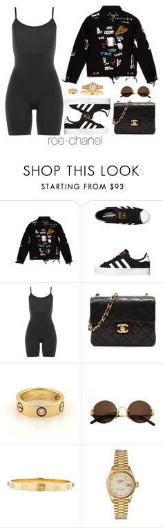 """Cartier X Chanel"" by roe-chanel ❤ liked on Polyvore featuring C2H4, adidas Originals, SPANX, Chanel, Cartier and Rolex"