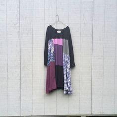 funky winter tunic upcycled romantic Upcycled clothing Patchwork Dress Eco Dress / Artsy Dress by CreoleSha by CreoleSha on Etsy