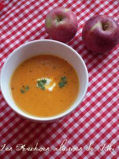Velouté de carottes aux pommes et au lait de coco