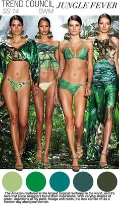 Swimwear Trends 2014 | Go green with your swim suit this Summer. #youresopretty
