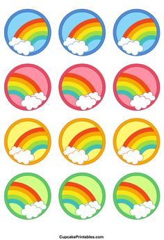 http://cupcakeprintables.com/toppers/rainbow-cupcake-toppers/