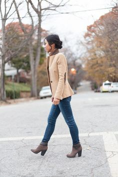 Camel Blazer with Elbow Patches