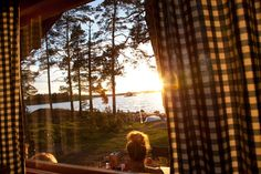 Finnish summer cottage culture is ridiculously overrated. Summer Breeze, Summer Nights, Video Artist, Morning Sunrise, Dark Winter, Midnight Sun, Cabins And Cottages, Archipelago, How To Fall Asleep