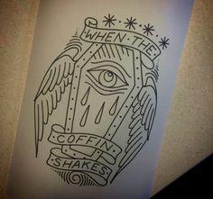 coffin tattoo flash more tattoo ideas eyes coffin tattoo flash coffin . Coffin Tattoo, Cool Tattoos, Girls With Sleeve Tattoos, Tattoos, Trendy Tattoos, Eye Stencil, Deviantart Tattoo, Beauty Tattoos, Deftones Tattoo