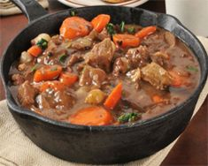 Are you a fan of a tender, savory beef stew? Adding a Jamaican Red Stripe beer will give your beef stew a deep, rich and slightly bitter flavor that will complement the sweetness of the other ingredients. Enjoy our Red Stripe Beef Stew recipe. Beef Bourguignon, Easy Beef Stew, Jamaican Recipes, Pot Roast, Meat Recipes, Cooker Recipes, Paleo Recipes, Stuffed Peppers, Cooking