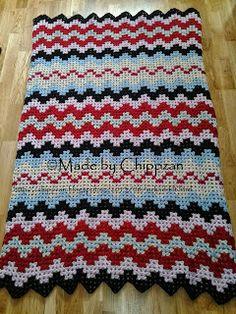 Free crochet pattern! Färdig filt - Finished afghan
