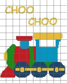 Train Crochet Baby Blanket Graph Pattern