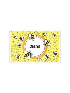Bumble Bee Personalized Placemat