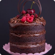 Mini Naked Cake de Nutella