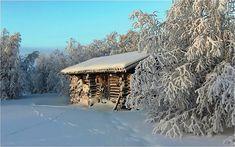 Log cabin in winter wallpaper | AllWallpaper.in #2603 | PC ...