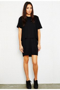 Sparkle & Fade Double Layer Tee Dress
