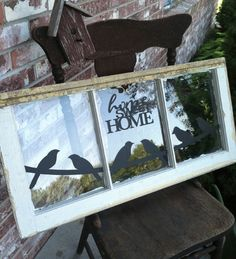 I like this A LOT!!  -  Old window ideas