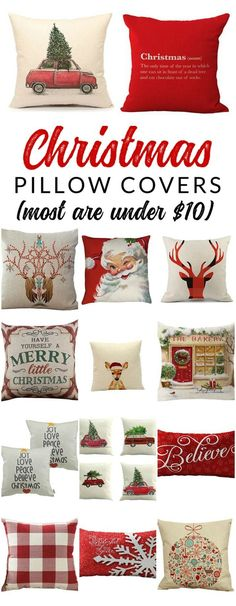 Shop farmhouse style Christmas pillow covers – these budget-friendly buys are perfect for changing your home decor for Christmas. Decorate with affordable throws and pillow covers.