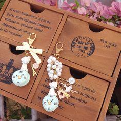 Happiness is... Enjoy the lil things in life #macaronbunny #bunny #bagcharm #handmade #diy