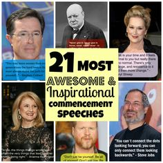 <<PEM>  > 21 Totally Awesome Commencement Speech Quotes