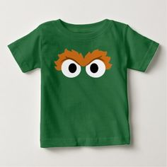 Oscar the Grouch Big Face Baby T-Shirt - tap, personalize, buy right now! Oscar The Grouch, Big Face, Toddler Outfits, Up Shirt, Tshirt Colors, Fitness Models, T Shirts For Women, Stitch, Sweatshirts