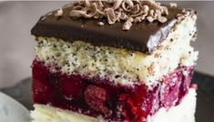 blechkuchen Paradise pleasure in the Cherry Fantasy cake Fantasy Cake, Romanian Food, Sweet Pastries, Food Cakes, Vanilla Cake, Baked Goods, Cake Recipes, Bakery, Sweet Treats