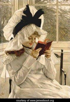 Reading a Book, James Tissot, 1872-1873