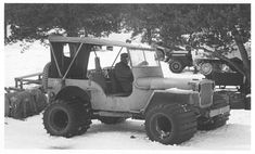 Cold-weather Jeep at Camp Hale, Colorado - 1943