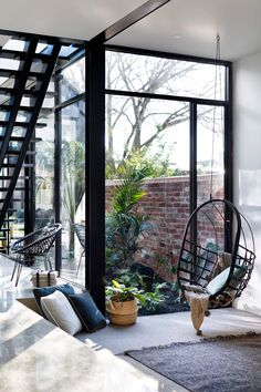 Home Inspiration - Pursue your dreams of the perfect Scandinavian style home with these inspiring Nordic apartment designs. Scandinavian Style Home, Hallway Designs, Terrazzo Flooring, Street House, Floor To Ceiling Windows, Decoration Design, Home Decor Kitchen, Apartment Design, Studio Apartment