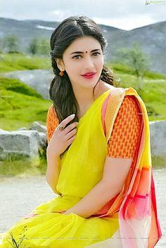 Shruti Haasan Shruti Haasan (born 28 January is an Indian film actress and singer who works predominantly in Tamil, Telugu and H. Beautiful Girl Indian, Most Beautiful Indian Actress, Beautiful Actresses, Beautiful Women, Girls Dp Stylish, Stylish Girl Images, Girls In Love, Cute Girls, Kajal Agarwal Saree