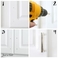 How to easily install cabinet hardware