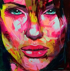 Françoise Nielly - 852 (2015) . Wonderful paintings. I'm a Fan!