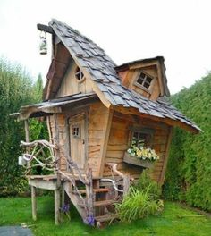 Is 56 too old to want a play house? #backyardplayhouse