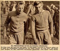 Introducing Uwe Seeler (Hamburger SV, 1953–1972, 476 apps, 404 goals) and Klaus Stürmer (Hamburger SV, 1953-1961, 158 apps, 114 goals), two young football talents in 1954.