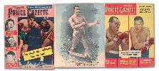 "Vintage ""Police Gazette"" and ""The Ring"" Magazine Premium Boxing Photo Collection of 158"