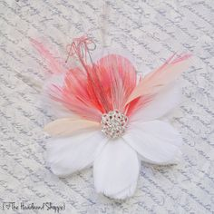 RIVIERA in Coral and Peach  Multi Layer Bloom by TheHeadbandShoppe