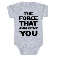 Copy of The force is strong with this one Star Wars Cute Funny Baby Onesie