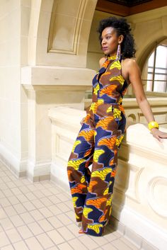Melange Mode Sassy Jumpsuit ~African fashion, Ankara, kitenge, African women dresses, African prints, African men's fashion, Nigerian style, Ghanaian fashion ~DKK
