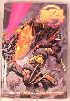 Marvel X-Men Fantastic Four X4 GN HC 1st Printing Comic Book 2005