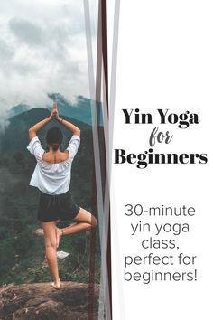 Are you new to yin yoga? Try this 30-minute online yoga class free on youtube geared towards beginners of yin yoga! #yoga #onlineyoga #yinyoga #yogaforbeginners #yinyogaforbeginners #30minuteyoga #homeyoga #yogaathome #youtubeyoga #yogaclass #wellness #selfcare #beginneryoga #slowyoga #relaxingyoga Yin Yoga Sequence, Yin Yoga Poses, Easy Yoga Poses, Free Yoga Classes, Online Yoga Classes, Easy Workouts For Beginners, Yoga Poses For Beginners, 30 Minute Yoga, Gentle Yoga
